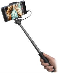SBS teleskopická selfie tyč s 3,5 mm konektorem, černá