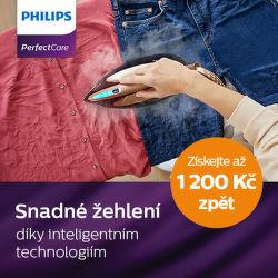Cashback až 1 200 Kč na parní generátory Philips