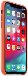 Apple kožený kryt pro iPhone Xs, oranžový