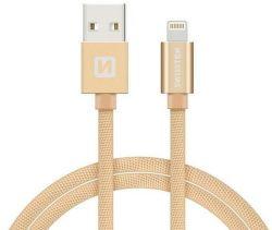 Swissten datový kabel Lightning 1,2 m zlatý