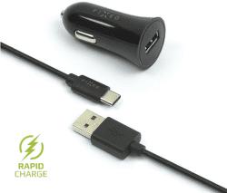 Fixed USB 2,4 A černá 1 m USB-C kabel