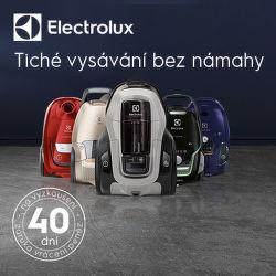 Záruka vrácení peněz 40 dní na tiché vysavače Electrolux