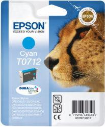 Epson T0712 cyan (gepard) - inkoustová náplň