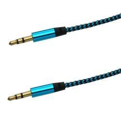 Mobilnet AUX kabel 3.5mm jack 1m (černo-modrý)