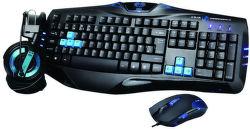 E-BLUE Cobra YCEBUS80CU - herní set klávesnice, myš, sluchátka (černo-modrá)