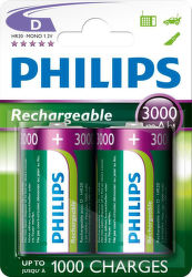 Philips MultiLife 3000mAh D (HR20), 2ks