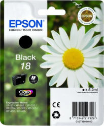 Epson T1801 18 black (sedmokráska) - inkoustová náplň