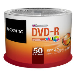 Sony DVD-R 4,7GB 16x, Printable, 50ks