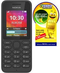 Nokia 130 (černý) + SIM SAZKAmobil vystavený kus splnou zárukou