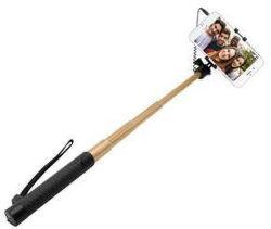 Fixed hliníková selfie tyč s 3,5 mm konektorem, zlatá