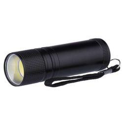 Emos COB 3W, LED svítilna, černá