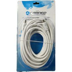 Carneo anténní kabel 10m bíly
