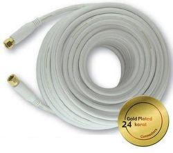 Mascom 7676-100W - koaxiální kabel F-F konektory, OFC, 10 m