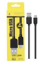 Plus AS115 MicroUSB datový kabel, černá