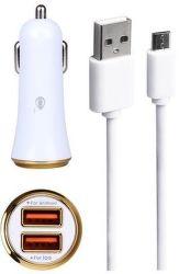 Plus CS501 2x USB 2.4A + microUSB kabel žlutá