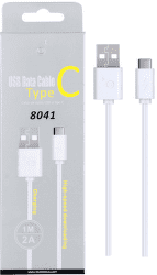 Plus 8041 USB-C datový kabel 1m, bílá