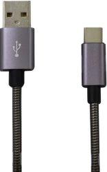 Mobilnet Micro USB kabel 2A 1m, šedá
