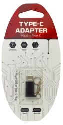 Mobilnet Adaptér micro USB na USB typ C černý