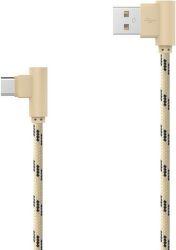 Mobilnet USB Type C kábel 2m, zlatý