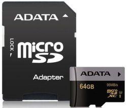 ADATA Premier Pro microSDXC 64GB 95MB/s UHS-I U3 + adaptér