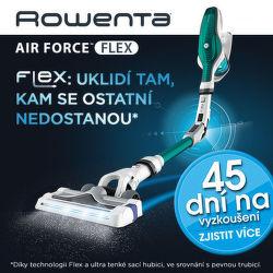 45 dní záruka vrácení peněz na tyčové vysavače Rowenta Air Force Flex