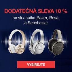 Dodatečná 10 % sleva na sluchátka Beats, Bose a Sennheiser