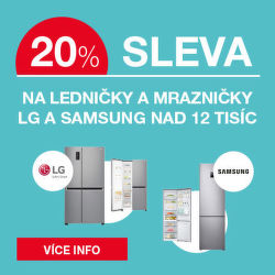 Sleva 20 % na chladničky LG a Samsung