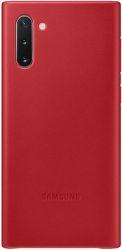 Samsung Leather Cover pro Samsung Galaxy Note10, červená