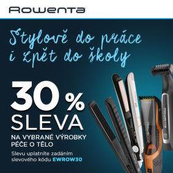 Sleva 30 % na produkty péče o tělo Rowenta