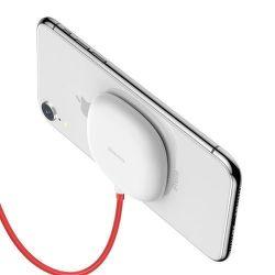 Baseus Suction Cup Wireless Charger bezdrátová nabíječka 10W, bílá
