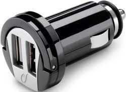 CellularLine 2x USB autonabíječka 2A, černá