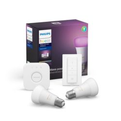 Philips Hue White and Color ambiance 9 W E27 malý starter kit