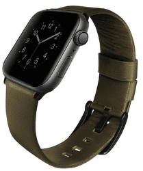 Uniq Mondain řemínek pro Apple Watch 44 mm, zelená