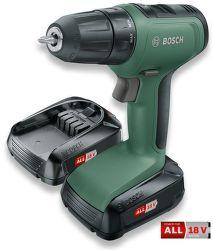 Bosch UniversalDrill 18 AKU vrtačka + 2 ks aku 18V/1,5Ah