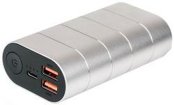 Verbatim powerbanka 10 000 mAh QC 3.0, stříbrná
