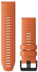 Garmin QuickFit 26mm silikonový řemínek pro Fénix 6X, oranžová