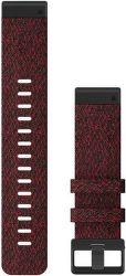 Garmin QuickFit 22 mm nylonový řemínek pro Fénix 6, červená