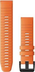 Garmin Quickfit 22 mm silikonový řemínek pro Fénix 6, oranžová