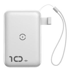 Baseus Mini S powerbanka s bezdrátovým nabíjením 10000 mAh, bílá