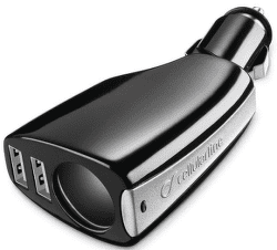 CellularLine autonabíječka 2x USB 1x CL výstup, černá