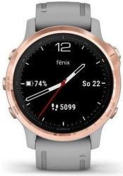 Garmin fénix 6S Pro Sapphire růžovo-zlaté s šedým řemínkem