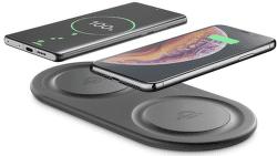 Cellular Line Dual bezdrátová nabíječka 2x 10 W 3 A černá