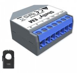 Shelly EM 120A WiFi měřič spotřeby +120A svorka