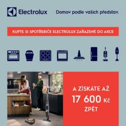 Cashback až 17 600 Kč při nákupu spotřebičů Electrolux