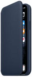Apple Leather Folio knížkové pouzdro pro iPhone 11 Pro, modrá