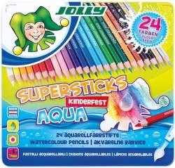 Jolly Supersticks Aqua 24 pastelek