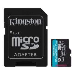 Kingston Canvas Go Plus 256 GB micro SDXC U3 V30 + SD Adaptér