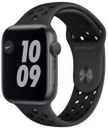 Apple Watch Nike Series 6 44 mm vesmírné šedý hliník s černým sportovním řemínkem