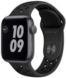 Apple Watch Nike SE 40 mm vesmírné šedý hliník s antracitovo černým sportovním řemínkem Nike