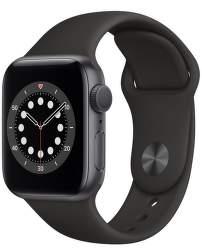 Apple Watch Series 6 40 mm vesmírné šedý hliník s černým sportovním řemínkem